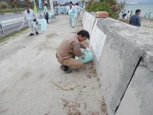 うるま市照間海岸清掃03