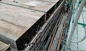 05PC工事配管用梁枠側面解体