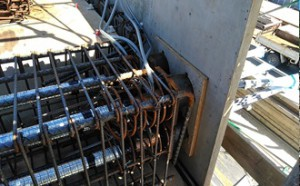 09PC工事、シース管設置状況