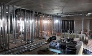16 2階軽鉄下地組施工状況