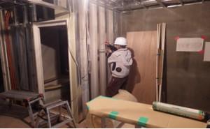 20 2階ボード貼り施工状況